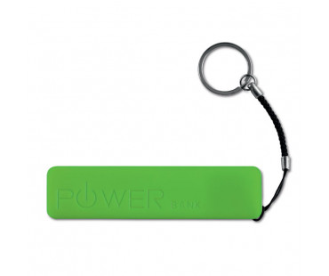 Cienki PowerBank 2200 mAh Power mate zielony