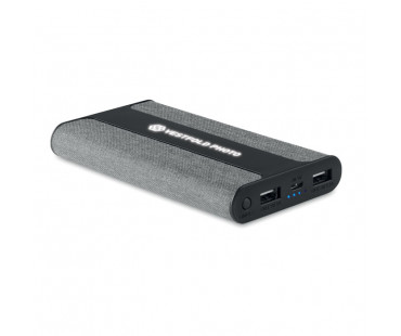 Powerbank 6000 mAh Powerfabric - szary